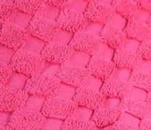 Luxurious linenHall, 850gsm 100% Cotton Reversible Bath Mat in Hot Pink